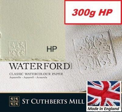 SAUNDERS WATERFORD HP 300g 76 x 56 - Професионален акварелен ръчен картон 100% памук  ГЛАДЪК