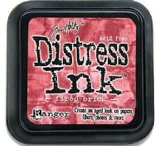 "Distress ink pad by Tim Holtz - Тампон, ""Дистрес"" техника - Fired brick"