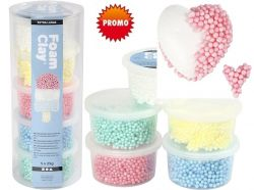 FOAM CLAY - Моделин с топчета за деца 5цв