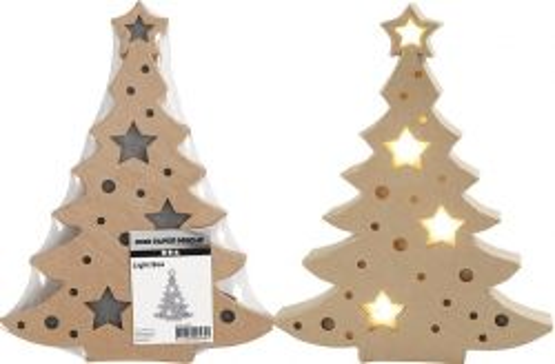 CHRISTMAS TREE with LIGHT - СВЕТЕЩО КОЛЕДНО ДРЪВЧЕ 27 x 21 x 4см