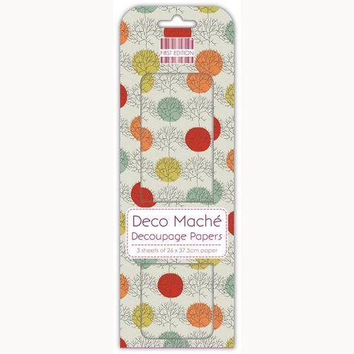 DECO MACHE - Декупажни хартии 22gsm , 3бр (26x37.5cm)