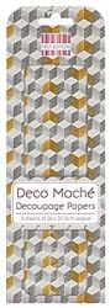 BLOCKS DECO MACHE - Декупажни хартии 22gsm , 3бр (26x37.5cm)