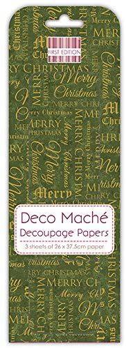 DECO MACHE TEXT - Декупажни хартии 22gsm , 3бр (26x37.5cm)