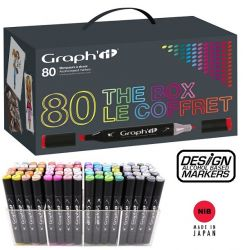 # GRAPH IT ALCOHOL MARKERS 80 - Двувърхи дизайн маркери 80цв