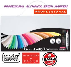 # GRAPH IT BRUSH MARKERS 36 - Двувърхи дизайн маркери ЧЕТКА  36цв ESSENTIAL