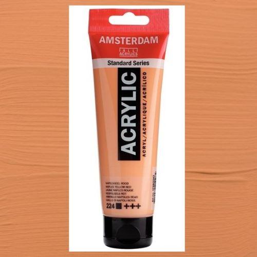 AMSTERDAM ACRYLIC - Акрилна боя за живопис 120 мл. - Naples yellow red 224
