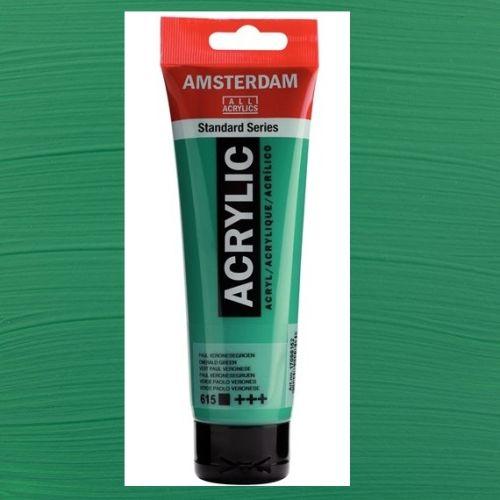 AMSTERDAM ACRYLIC - Акрилна боя за живопис 120 мл. - Emerald green 615
