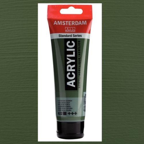 AMSTERDAM ACRYLIC - Акрилна боя за живопис 120 мл. - Olive green deep 622