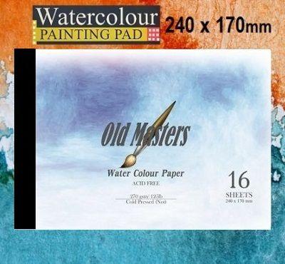 # OLD MASTERS Watercolour PAD  270g - АКВАРЕЛЕН блок 16л / 240x170