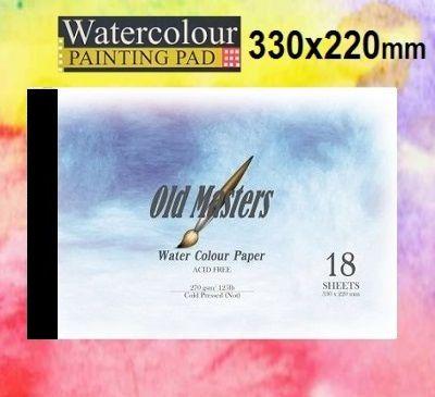 # OLD MASTERS Watercolour PAD 270g - АКВАРЕЛЕН блок 18л / 330x220