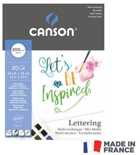 # CANSON PAD LETTERING  24X32 200g -  Блок за смесена техника рисуване