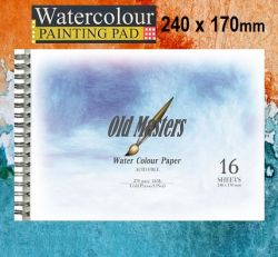 # OLD MASTERS Watercolour BLOCK  270g - АКВАРЕЛЕН блок-спирала 16л / 240x170