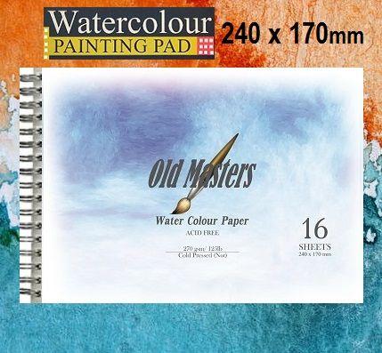 # OLD MASTERS Watercolour BLOCK  270g - АКВАРЕЛЕН блок-спирала 16л / 240x170