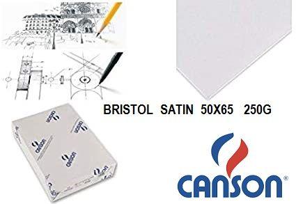 CANSON BRISTOL 250g -  BRISTOL SATEN 65х50  250g