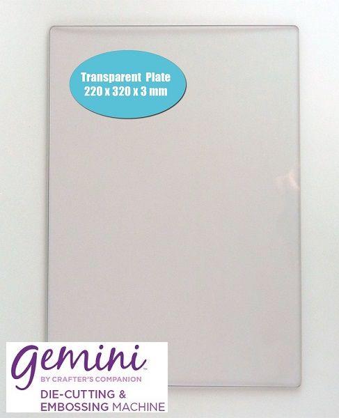 # GEMINI CUTTING  PLATE  - Прозрачна РЕЖЕЩА подложка за GEMINI - 220x320x3mm