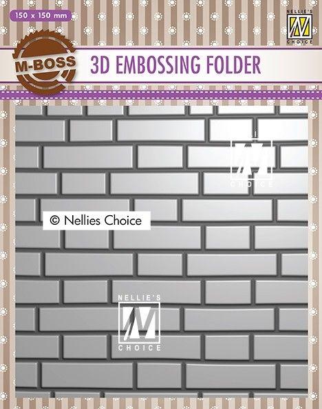 """3D-embossing folder """"Brick wall"""" 150x150mm- 3D Ембос папка"""