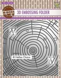 """3D-embossing folder """"Growth rings"""" 150x150mm- 3D Ембос папка"""