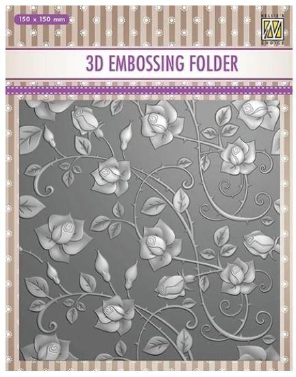 "3D-embossing folder ""Roses"" 150x150mm- 3D Ембос папка"