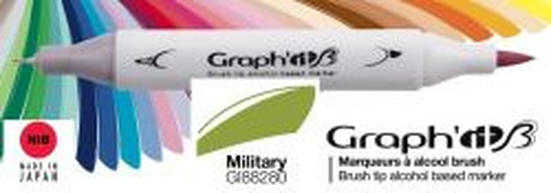 # GRAPH IT BRUSH MARKER - Двувърх дизайн маркери ЧЕТКА - MILITARY