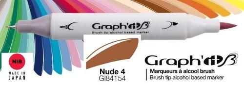 # GRAPH IT BRUSH MARKER - Двувърх дизайн маркери ЧЕТКА - NUDE 4