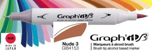 # GRAPH IT BRUSH MARKER - Двувърх дизайн маркери ЧЕТКА - NUDE 3
