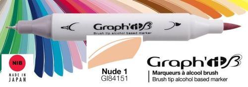 # GRAPH IT BRUSH MARKER - Двувърх дизайн маркери ЧЕТКА - NUDE 1