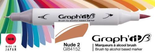 # GRAPH IT BRUSH MARKER - Двувърх дизайн маркери ЧЕТКА - NUDE 2