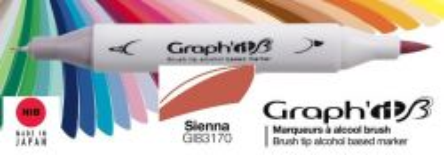 # GRAPH IT BRUSH MARKER - Двувърх дизайн маркери ЧЕТКА - SIENNA