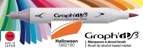 # GRAPH IT BRUSH MARKER - Двувърх дизайн маркери ЧЕТКА - HALLOWEEN