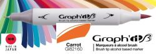 # GRAPH IT BRUSH MARKER - Двувърх дизайн маркери ЧЕТКА - CARROT