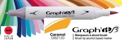 # GRAPH IT BRUSH MARKER - Двувърх дизайн маркери ЧЕТКА - CARAMEL