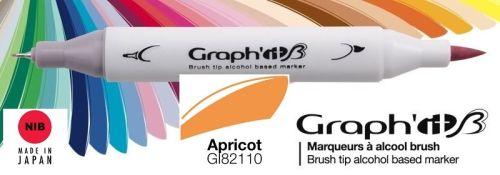 # GRAPH IT BRUSH MARKER - Двувърх дизайн маркери ЧЕТКА - APRICOT