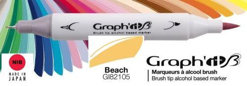 # GRAPH IT BRUSH MARKER - Двувърх дизайн маркери ЧЕТКА - BEACH