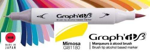 # GRAPH IT BRUSH MARKER - Двувърх дизайн маркери ЧЕТКА - MIMOSA