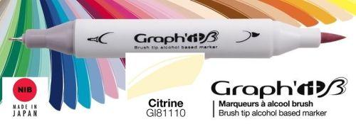 # GRAPH IT BRUSH MARKER - Двувърх дизайн маркери ЧЕТКА  CITRINE