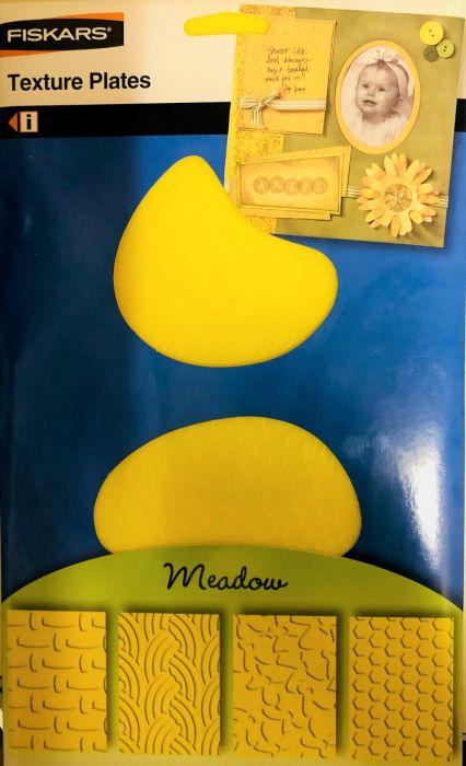 FISKARS TEXTURE PLATES - Плочи  за релеф 14.5х14.5см / 4 мотива MEADOW