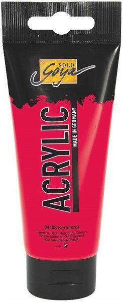 Goya ACRYLIC 100ml - Фин акрил  CARMIN RED