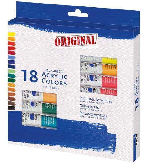 # EL GRECO ACRYLICS 18  - Фини АКРИЛНИ бои 18 цвята.