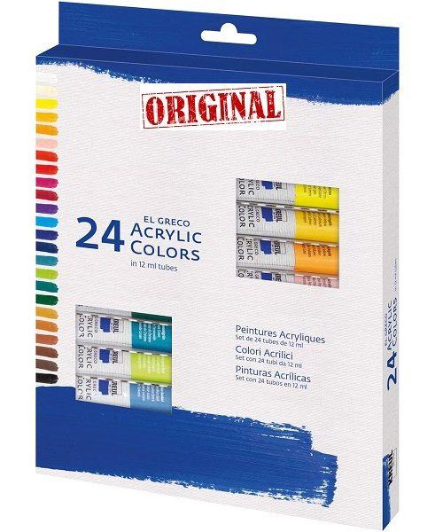 EL GRECO ART ACRYLIC 24 x 12ml - Фини акрилни бои 24цв