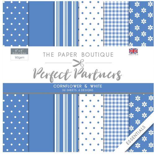 Paper Boutique • Perfect partners paper pad 36 sheets - Дизайнерски блок 20.5 X 20.5CM - Cornflower