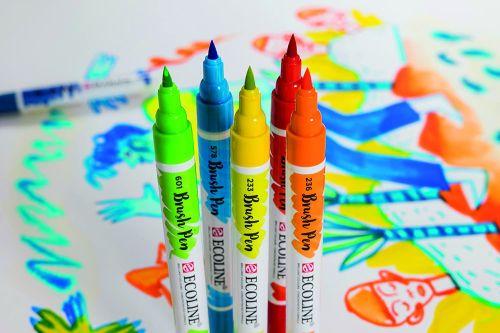 ECOLINE BRUSH Pen Set - Комплект 30бр. маркер/четка с висококачествен течен акварел