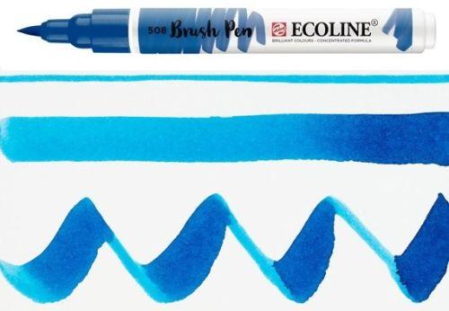 ECOLINE BRUSH PEN  - Дизайнерски маркер ЧЕТКА  - 508 PRUSSIAN BLUE