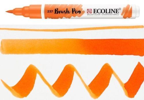 ECOLINE BRUSH PEN  - Дизайнерски маркер ЧЕТКА  - 237 DEEP ORANGE