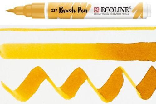 ECOLINE BRUSH PEN  - Дизайнерски маркер ЧЕТКА  - 227 yellow ochre
