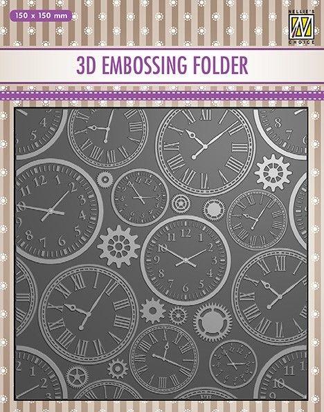 "3D-embossing folder ""TIME"" 150x150mm- 3D Ембос папка"