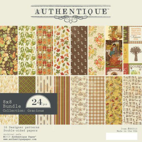 "AUTHENTIQUE,USA - Дизайн блок ""Gracious""  20,5x20,5"