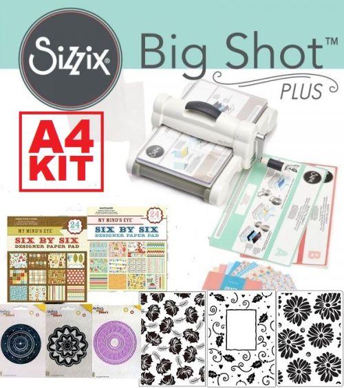 # BIG SHOT PLUS A4 KIT - СТАРТОВ комплект  Машина за изрязване и релеф  + щанци, папки, картони