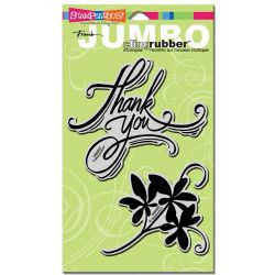 STAMPENDOUS USA - JUMBO Cling печат Thank You  2 бр.