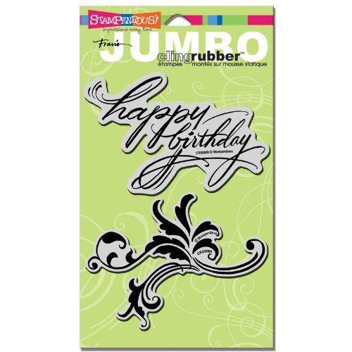 STAMPENDOUS USA - JUMBO Cling печат Happy Birthday - 2 бр.