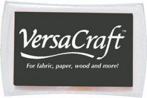 VersaCraft, Tsukineko - Голям тампон с мастило за дърво ,текстил и др. повърхности - The Real Black